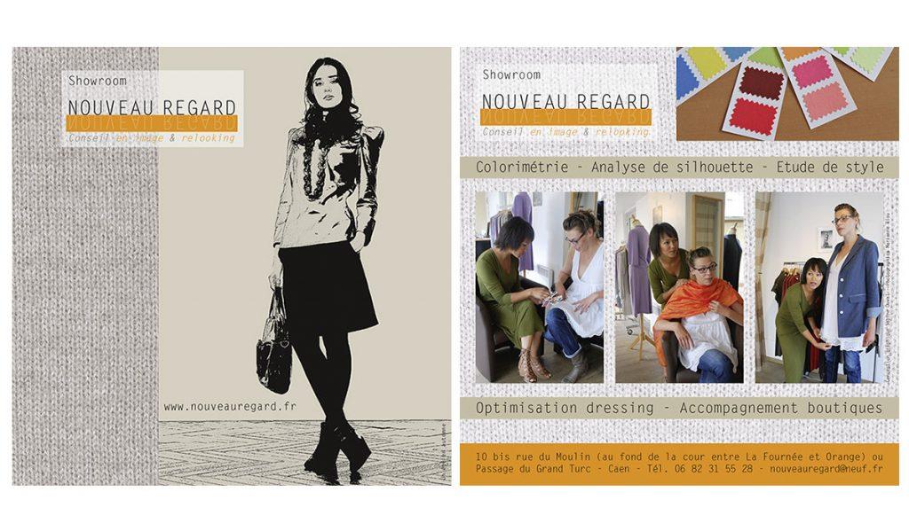 Nouveau Regard (logo, flyer)
